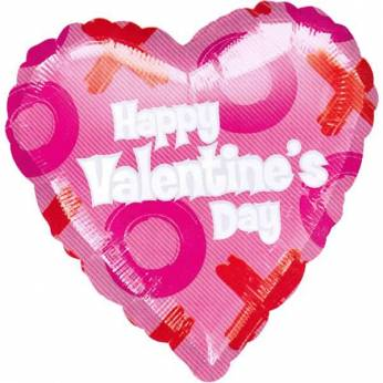 Folieballon Happy Valentine`s Day
